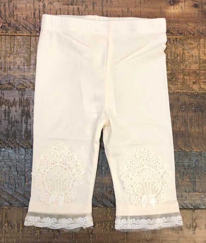 M. L. Kids Ivory Lace Legging