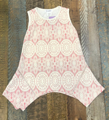 Area Code 407 Pink/Ivory Tunic Top
