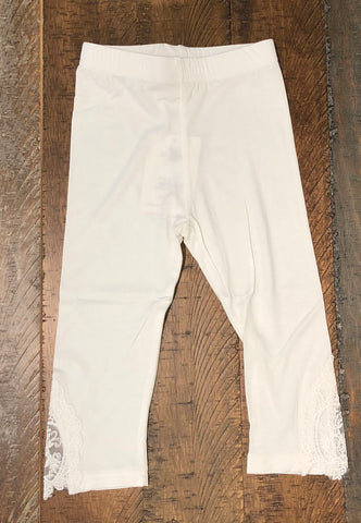 M. L. Kids White Lace Legging