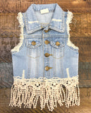 M. L. Kids Vintage Denim Vest