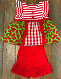 Sage and Lilly Watermelon Lilly Ruffle Panel Set