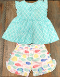 Sage and Lilly Tropical Fish Sadie Button Top/Pants
