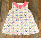 Sage and Lilly Bicycles Rosette Dress