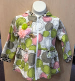 Z.A.Z.A. Couture Pink and Green Rose Jacket