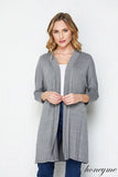 Women's Teacher Cardigan Grey (Also Plus Size) - Honey Me