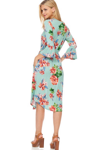 Women's Plus Mint Midi