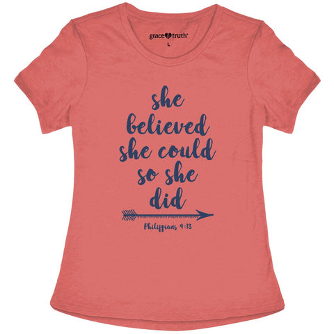 Grace & Truth She Believed She Could T-Shirt