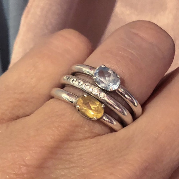 Citrine ring, Auquamarine ring - STAAARKIDS