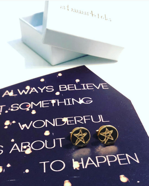 STAR EARRINGS GOLD - Staaarkids