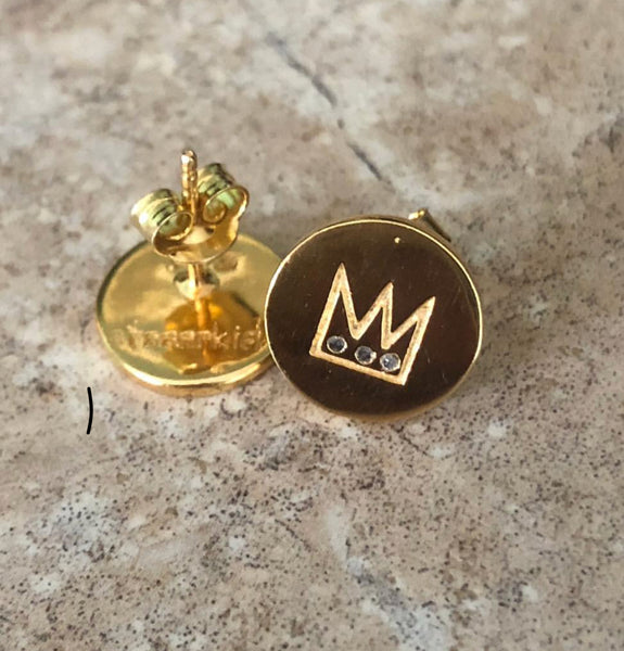 PRINCE DIAMOND EARRINGS GOLD - Staaarkids