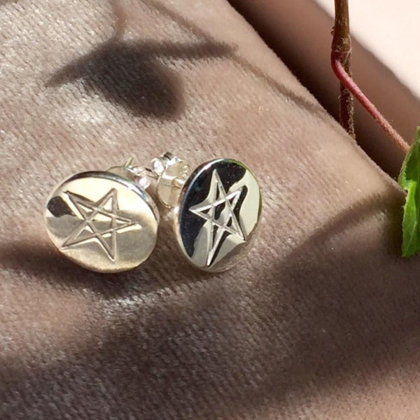 STAR EARRINGS SILVER - Staaarkids