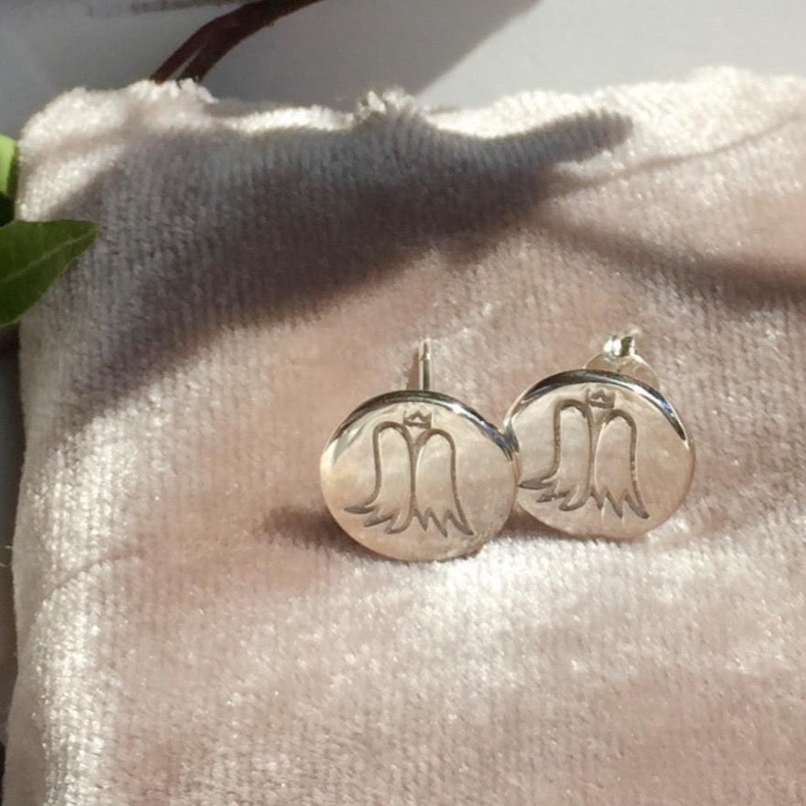 ANGEL EARRINGS SILVER - Staaarkids