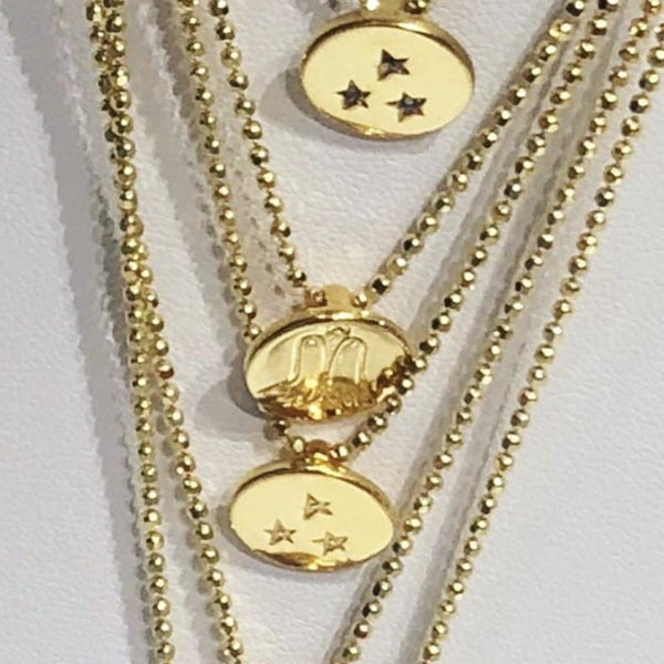 SNOWFLAKE DIAMOND NECKLACE GOLD - Staaarkids