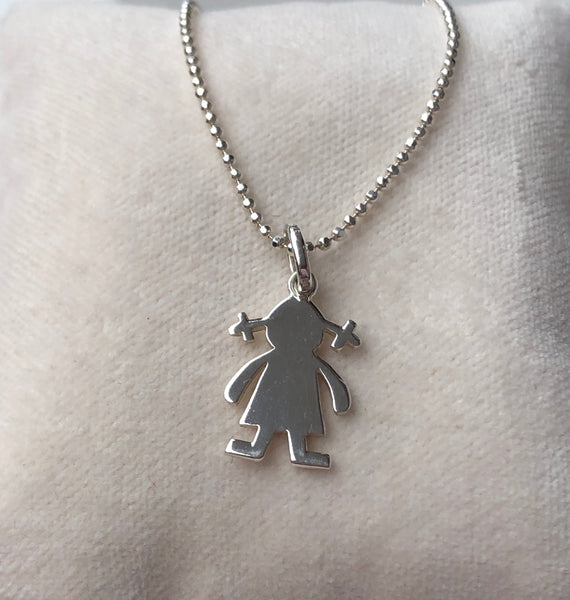 GIRL NECKLACE SILVER - Staaarkids