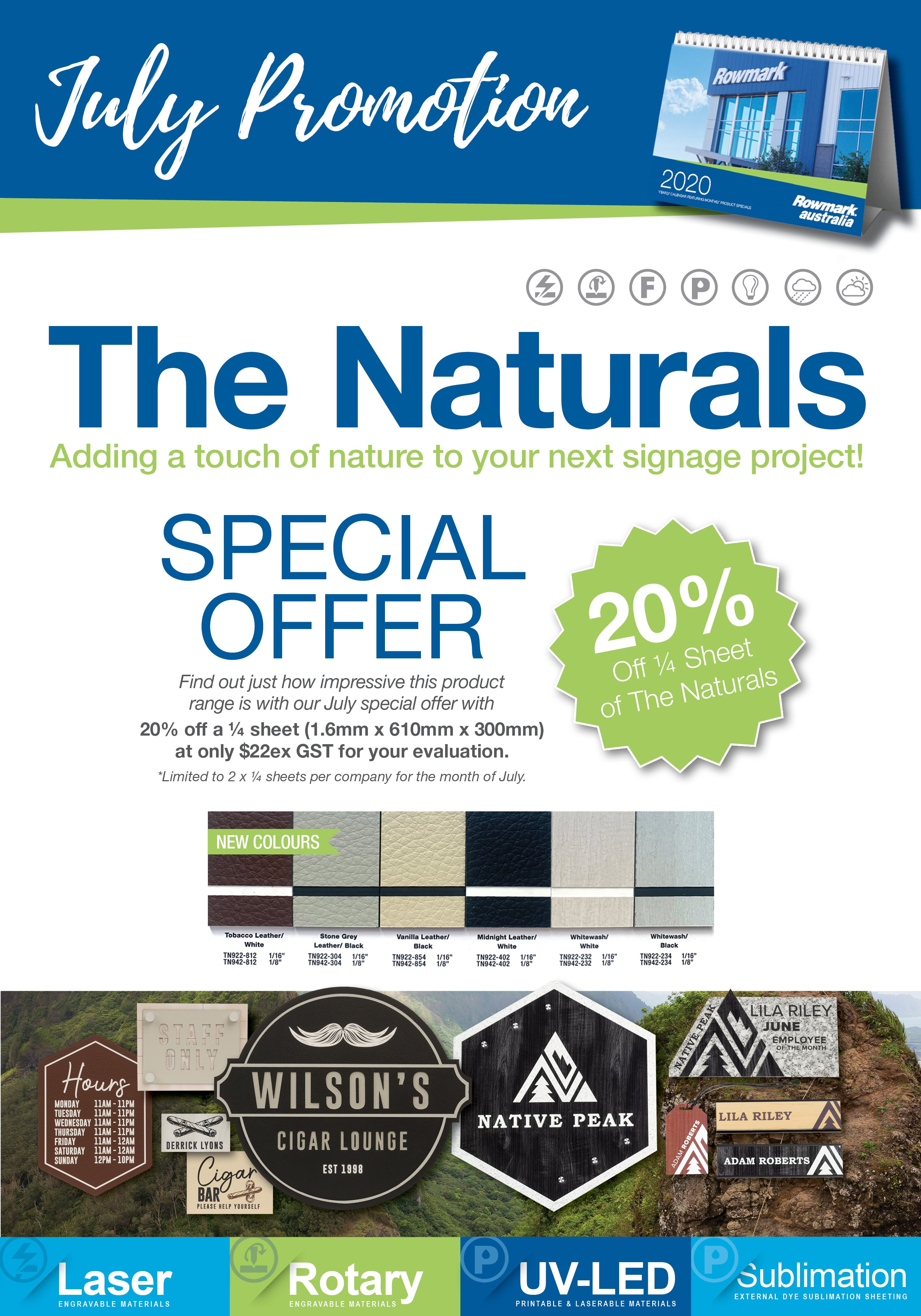 Rowmark Australia July 2020 Promotion - The Naturals