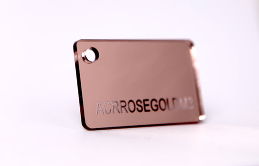 3MM ROSE GOLD MIRRORED ACRYLIC 1200 X 600MM