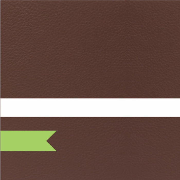 THE NATURALS TOBACCO LEATHER TEXTURE / WHITE