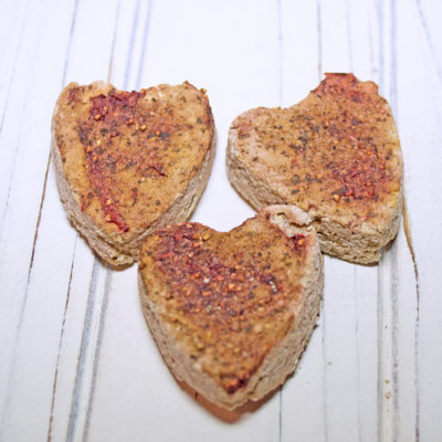 Heart Shaped Cookies - Hermit Crab Food - Organic - Hermit Crab - Pet Food - Hermie's Kitchen