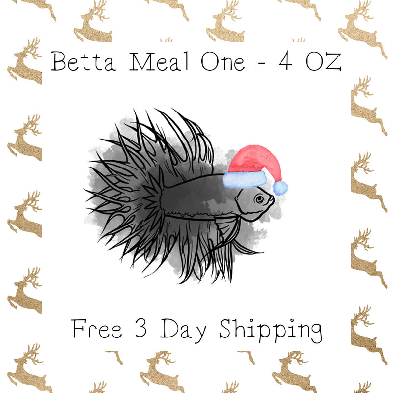 Betta Mason Jar Meal One │ 4 Oz │ Free 3 Day Shipping