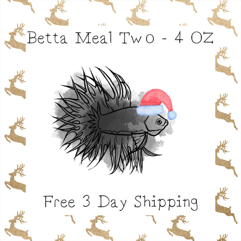 Betta Mason Jar Meal Two 4 Oz │ Free 3 Day Shipping