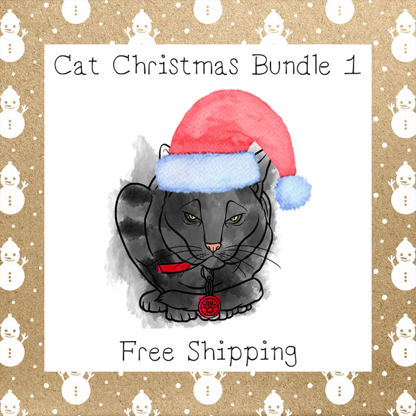 Cat Christmas Bundle 1 │ Cat │Free Shipping