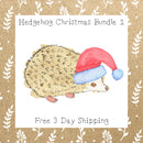Hedgehog Christmas Bundle 1 │ Hedgehog │ Free Shipping