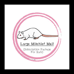 Large Mischief Mail Package │ Subscription Package For Rats │  Rat Treats