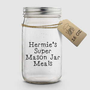 Hermie's Super Mason Jar Meals - 16 oz - Hermit Crab Food - Organic - Hermit Crab - Pet Food