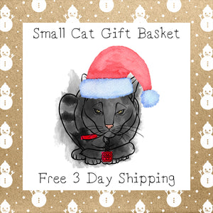 Small Cat Gift Basket │ Free 3 Day Shipping