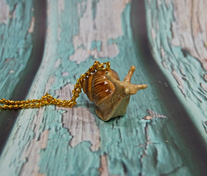 Clay Mr. Snail Necklace