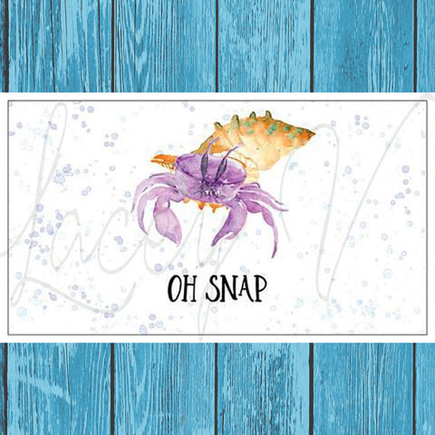 Hermit Crab Magnet For Refrigerator - Style 2 - Hermit Crab Food - Organic - Hermit Crab - Pet Food - Hermie's Kitchen