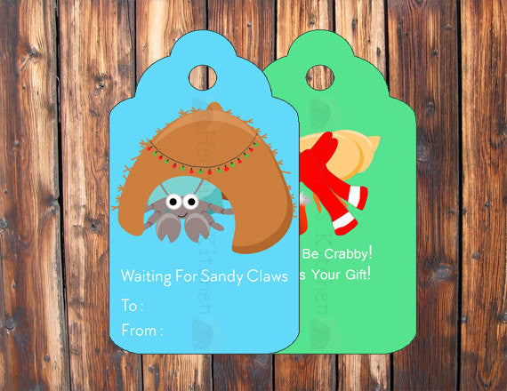 Gift Tags 2 - Digital Item - Hermit Crab Food - Hermie's Kitchen