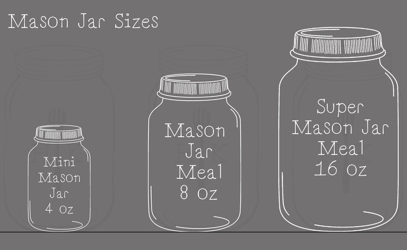 Betta Mason Jar Meal Four │ 4 Oz │ Betta