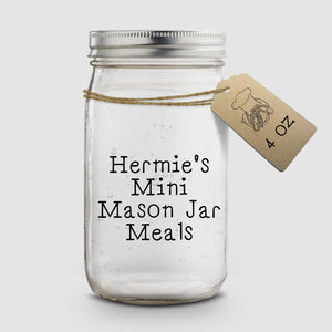 Hermie's Mini Mason Jar Meals │  4 oz │ Hermit Crab Food