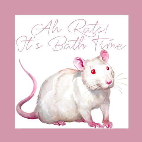 Ah Rats! It's Bath Time│Rat Shampoo - Hermie's Kitchen