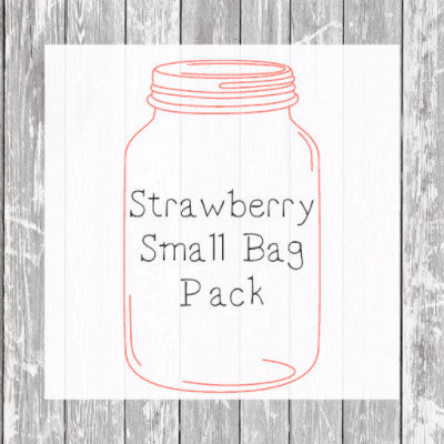 Strawberry Small Bag Pack (Small Bags) - Hermit Crab Food - Organic - Hermit Crab - Pet Food - Hermie's Kitchen