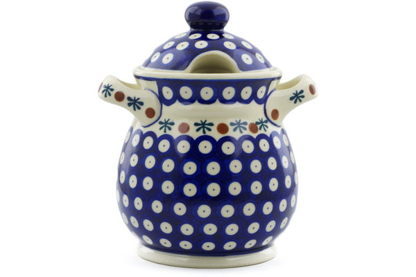"8"" Jar with Lid and Handles Ceramika Bona H3154J"