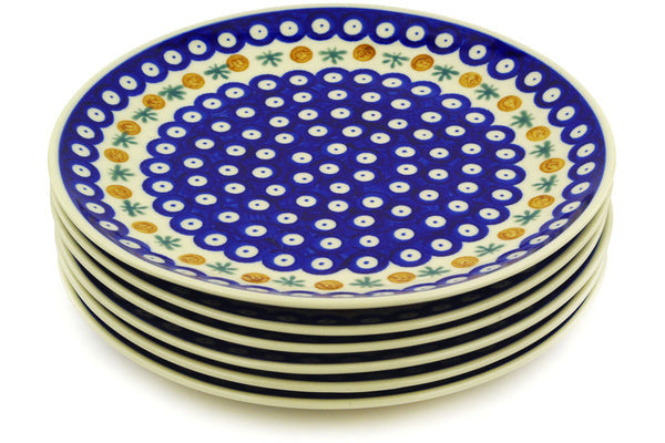 "10"" Set of 6 Dinner Plates Cer-maz H7266E"
