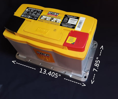 Optima DH7 Battery Tray Dimensions