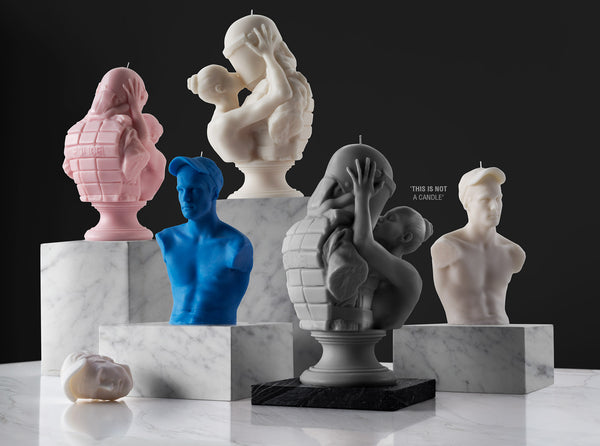 Sculpture candles now available