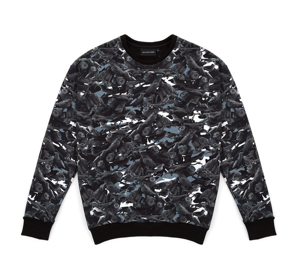 BIRDS OF PARADISE CAMO SWEATER