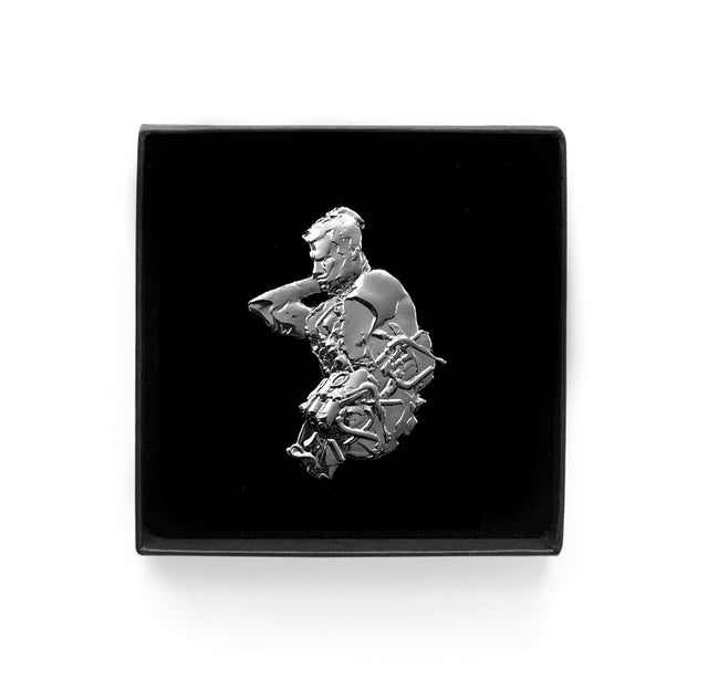 'MAN + MACH1N3' Sculpture Pin