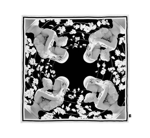 The Kiss Silk Scarf