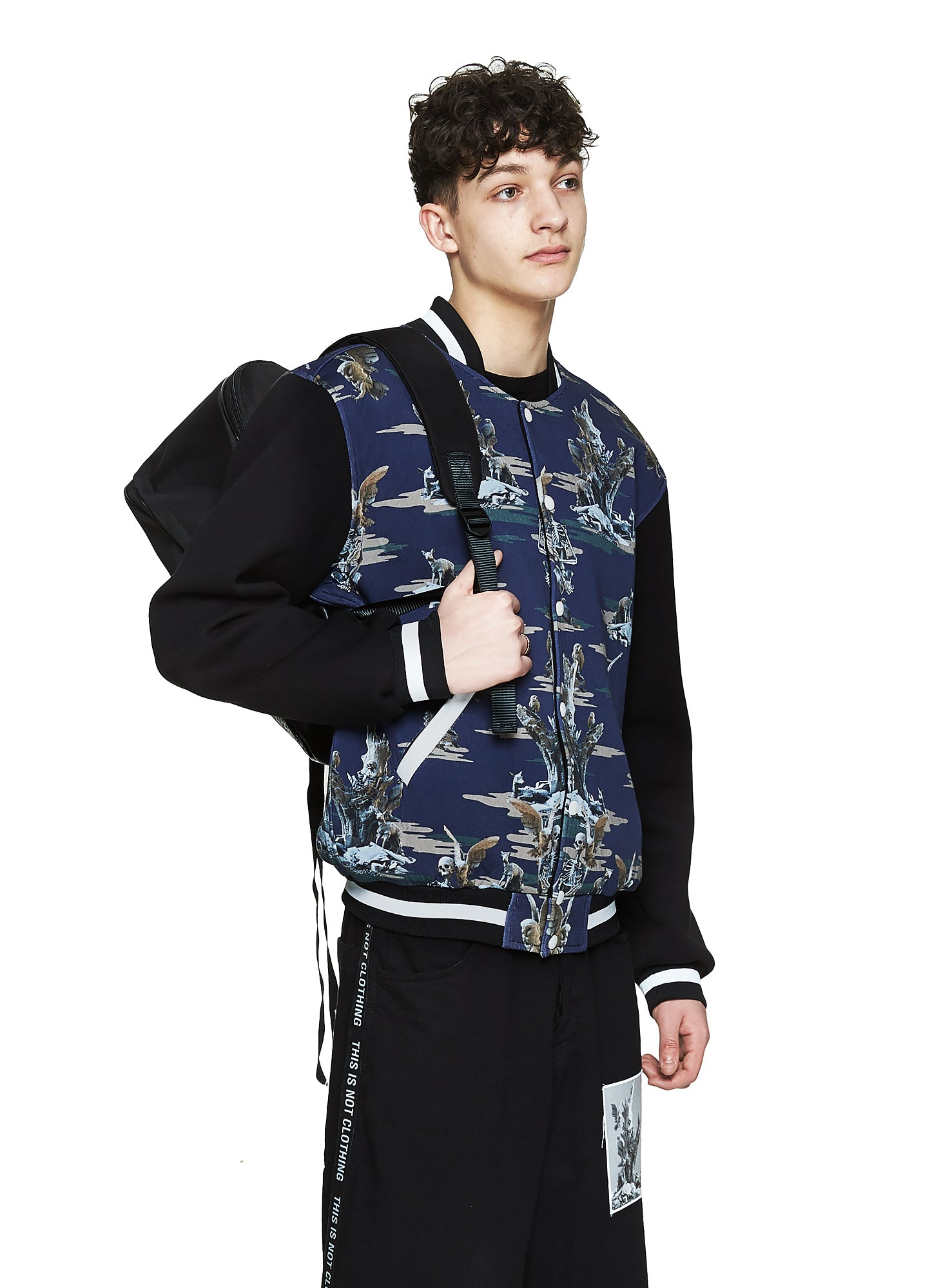 Fall of Paradise Blue Camo Varsity - Designer Brand - This Is Not Clothing – Lookbook Photo 2