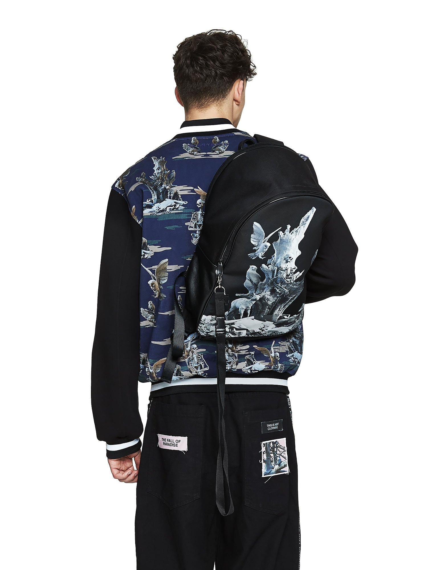 Fall of Paradise Blue Camo Varsity - Designer Brand - This Is Not Clothing – Lookbook Photo 4