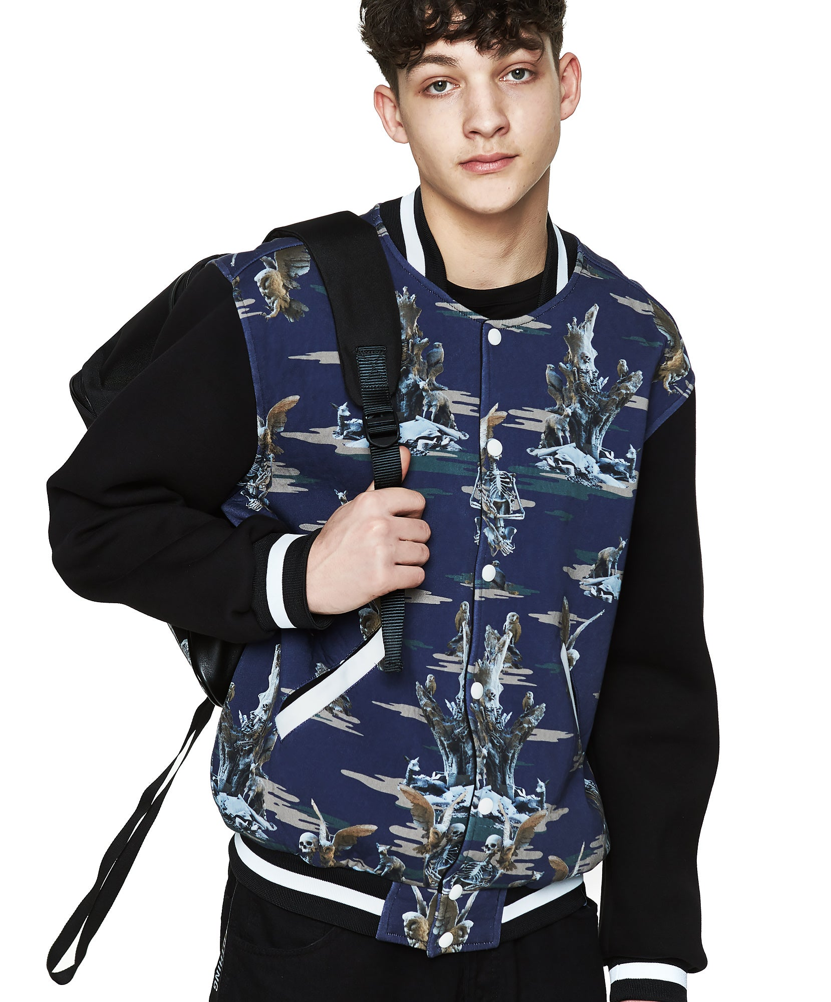 Fall of Paradise Blue Camo Varsity - Designer Brand - This Is Not Clothing – Lookbook Photo 5