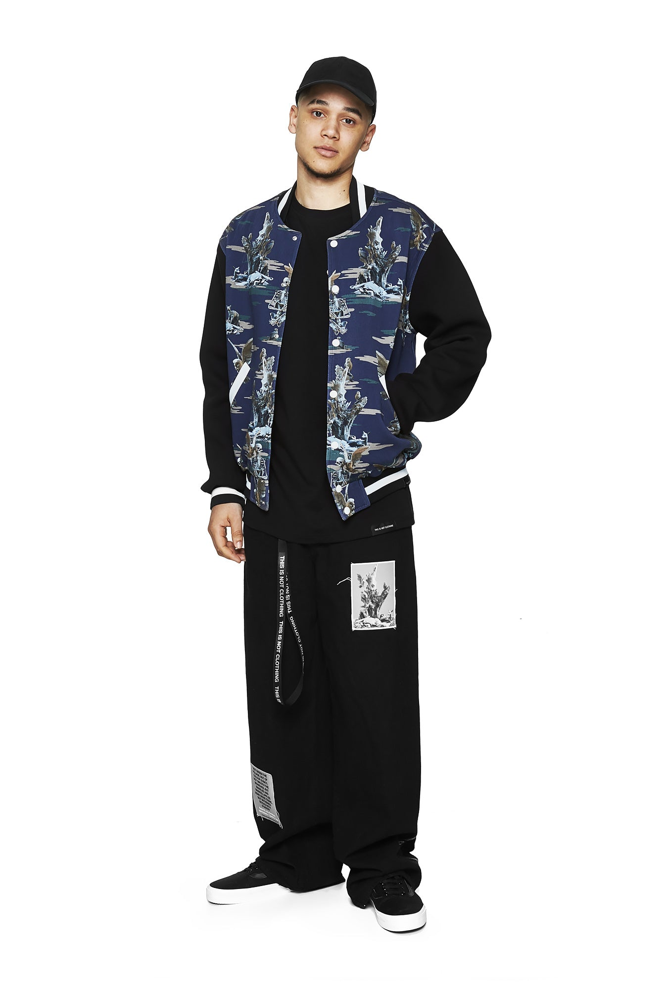 Fall of Paradise Blue Camo Varsity - Designer Brand - This Is Not Clothing – Lookbook Photo 6