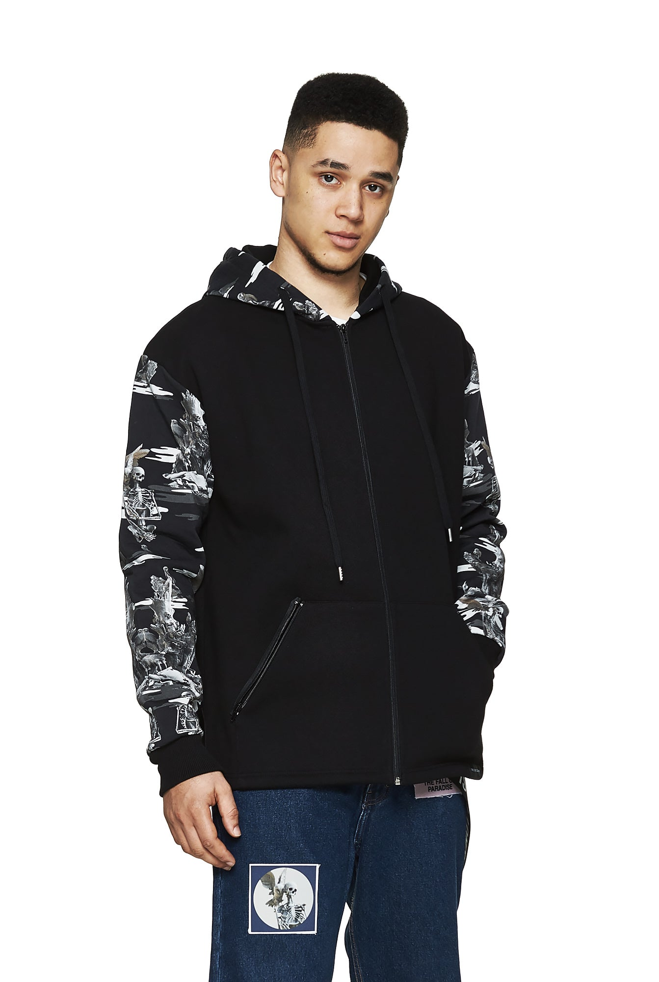 Fall of Paradise Camo Hoodie Grey - Designer Brand - This Is Not Clothing - Lookbook Photo 2