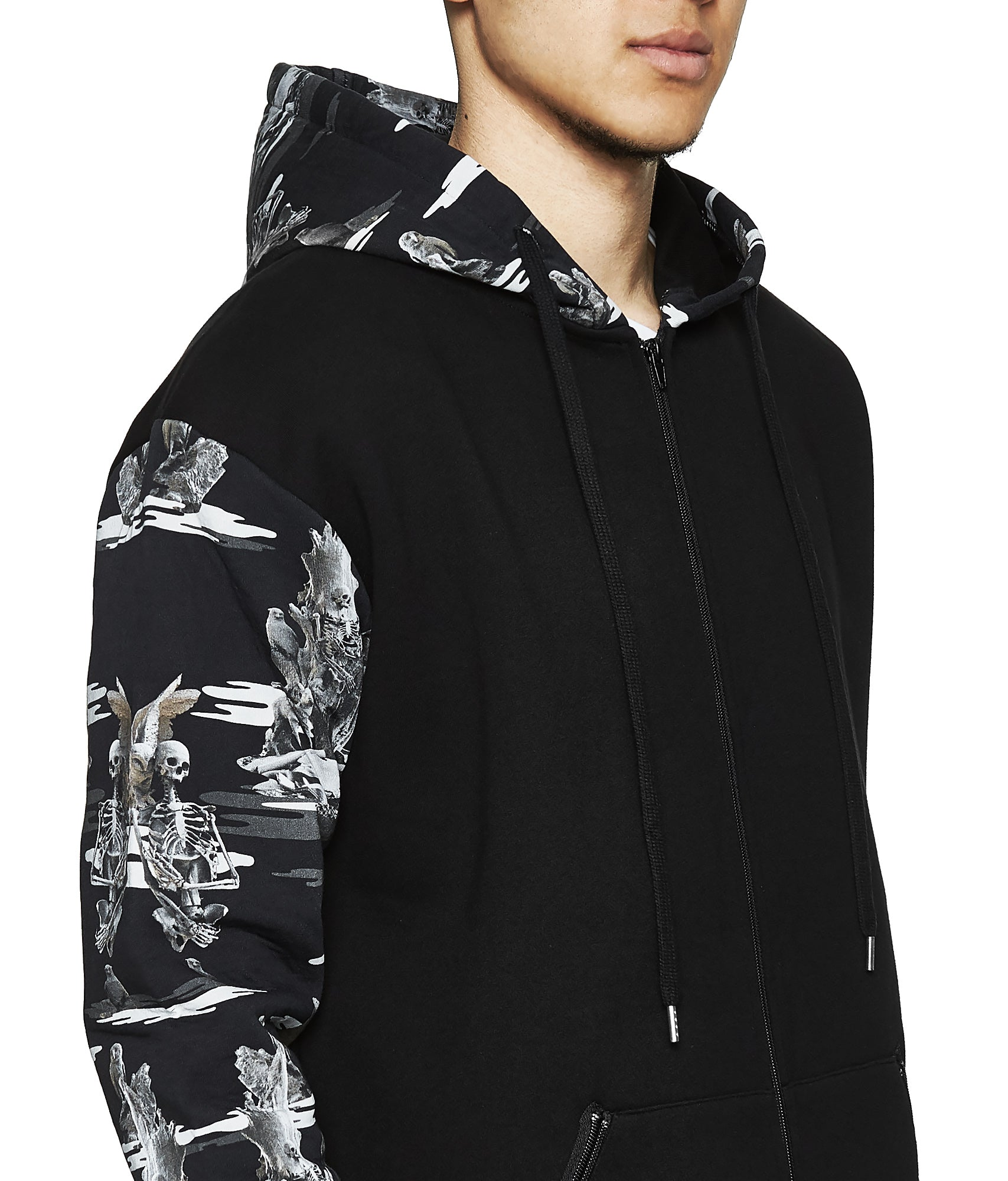 Fall of Paradise Camo Hoodie Grey - Designer Brand - This Is Not Clothing - Lookbook Photo 3