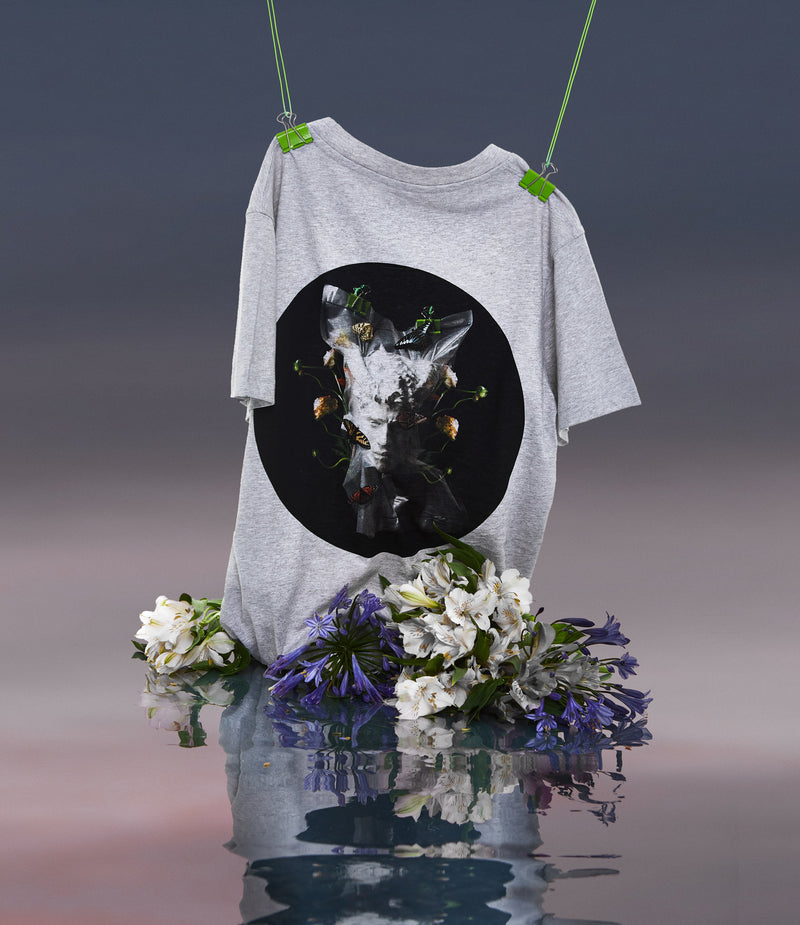 Memento Mori V T-Shirt Grey - Designer Brand - This Is Not Clothing